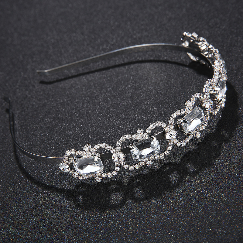 Imitated crystal&CZ Fashion Geometric Hair accessories  (Alloy) NHHS0479-Alloy