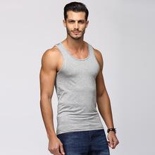 男士背心彈力緊身莫代爾純色運動背心男夏季修身型健美打底衫批發