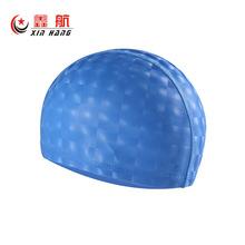 新款3D游泳帽pu涂层布泳帽大号长发防水高弹性舒适不勒头厂家直销