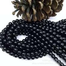 厂家直销 黑石玻璃散珠批发DIY串珠稀土水晶玻璃半成品饰品配珠