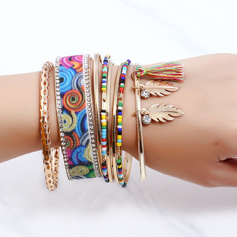 Occident and the United States alloy Diamond bracelet (Mixed color)NHNNZ3053-Mixed color