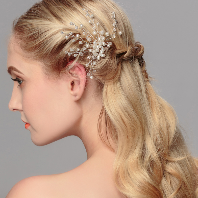 Beads Fashion Geometric Hair accessories  (white) NHHS0368-white