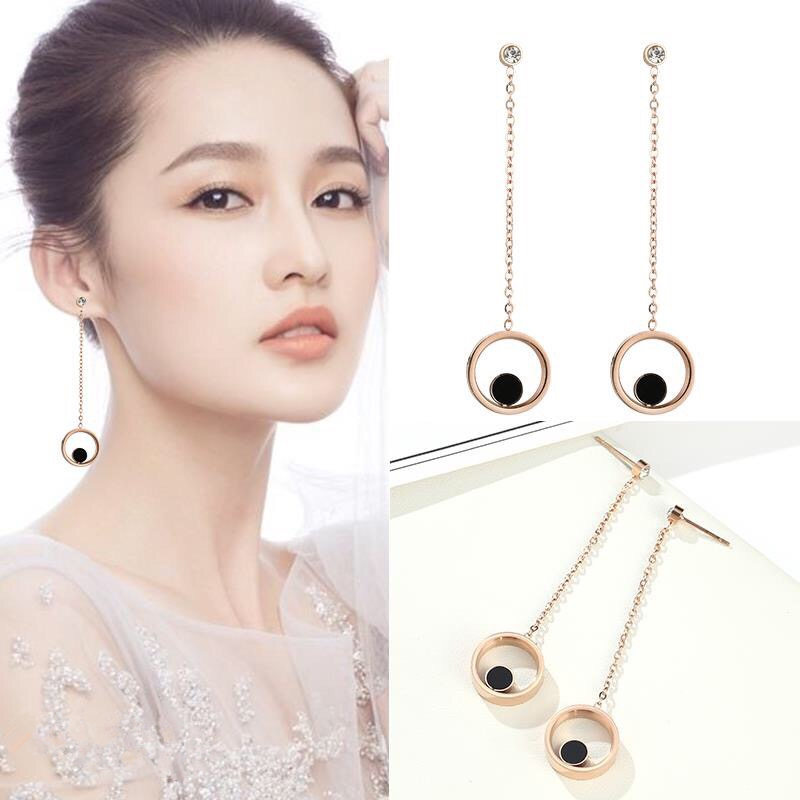 Fashion OLOccident metal plating earring (Rose gold pair)NHIM0648-Rose gold pair