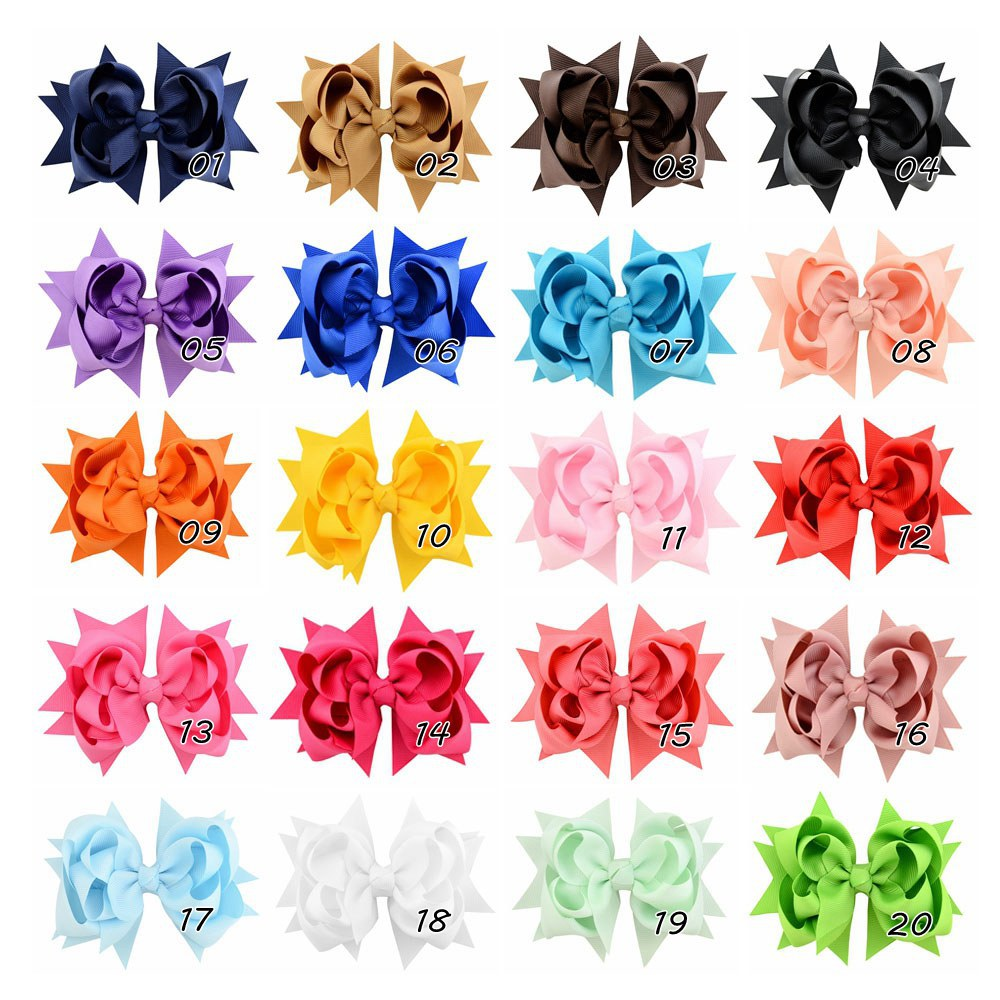 new simple flower fishtail bow hairpin set NHMO306952