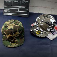 空白光板迷彩户外棒球帽子 嘻哈帽平沿街舞帽 男女士DIY广告帽批