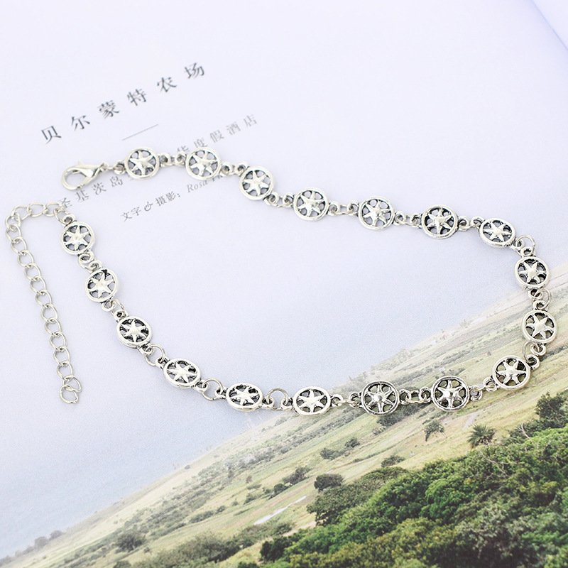 Simple alloy plating necklace NHGY0532