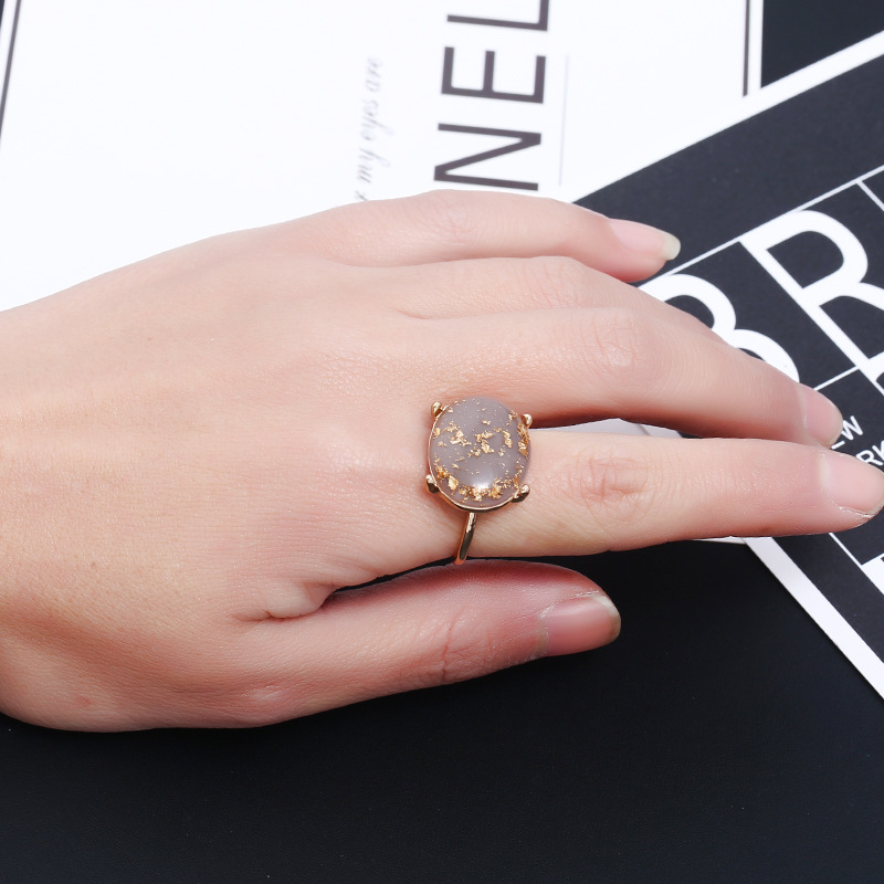 Fashion Alloy plating Rings Geometric (KC alloy brown -6)  NHKQ1446-KC alloy brown -6
