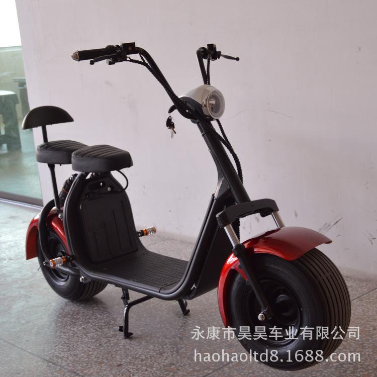 厂家哈雷电动车踏板摩托车成人电动车哈雷车两轮电动代步车