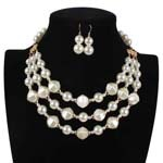 Occident and the United States pearlnecklace (creamy-white)NHCT0023-creamy-white