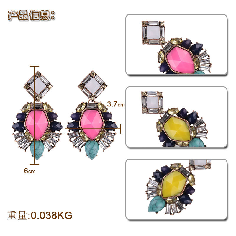 Occident and the United States alloy plating earring (Color 2)NHJQ9259-Color 2