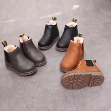 2012秋冬季新款女童单靴复古马丁靴儿童鞋男童皮鞋英伦短皮靴棉靴