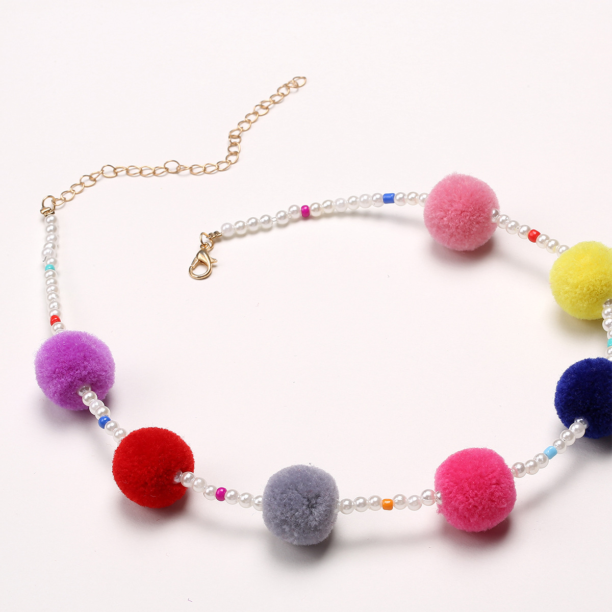 Occident and the United States alloy plating necklace (Imitation pearl-C2187 color pearl models)NHXR1455-Imitation pearl-C2187 color pearl models