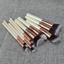 10支木柄化妝刷現貨 5大5小10支裝多種美妝工具化妝刷10支套裝