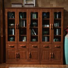 ?#30340;?#20070;柜2门3门5门自由组合书柜加厚带抽屉玻璃门现代中式简约