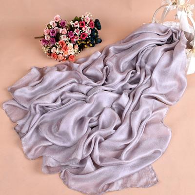春夏新款夏遮阳防晒沙滩巾空调披肩女荷兰亚麻围巾珍珠光丝巾