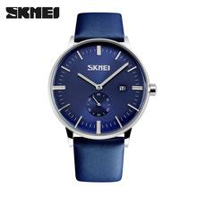 正品时刻美厂家批发时尚皮带手表防水商务男士手表石英手表男9083