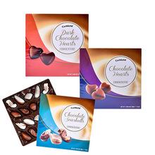 圣诞节心形巧克力比利时进口可尼斯贝壳形夹心黑巧克力200g