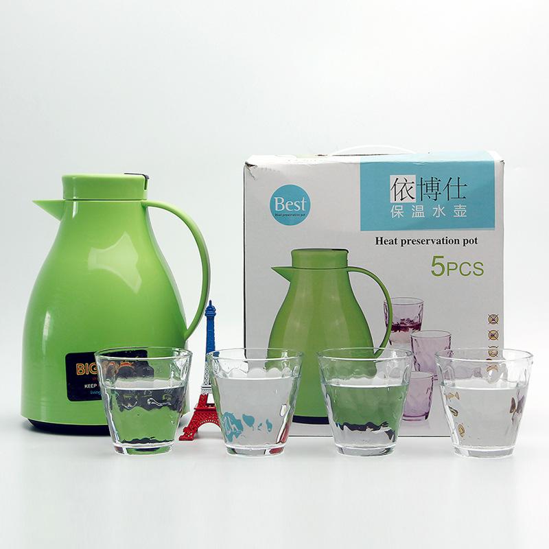 促銷禮品保溫壺 家用熱水瓶保溫瓶保溫水壺暖壺 保溫壺水具五件套