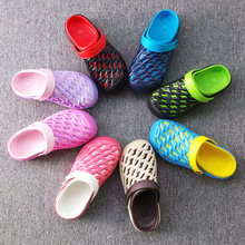 新款夏季时尚休闲洞洞鞋批发 平跟轻便透气男女士eva凉鞋一件代发