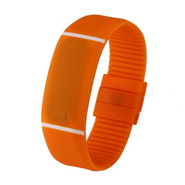 Explosion models smart LED ultra-thin electronic sports silicone bracelet watch Fashion couple children students jelly table