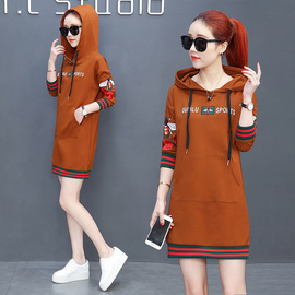 Spring new fashion, leisure, loose, skinny dress, hat, medium and long suit
