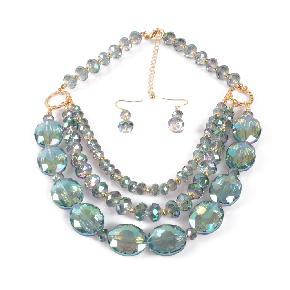 Occident and the United States pearlnecklace (green)NHCT0006-green