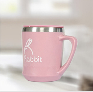 Stainless steel water cup, couple cup, big belly cup, insulated cup with lid, office tea cup for men and women, car cup