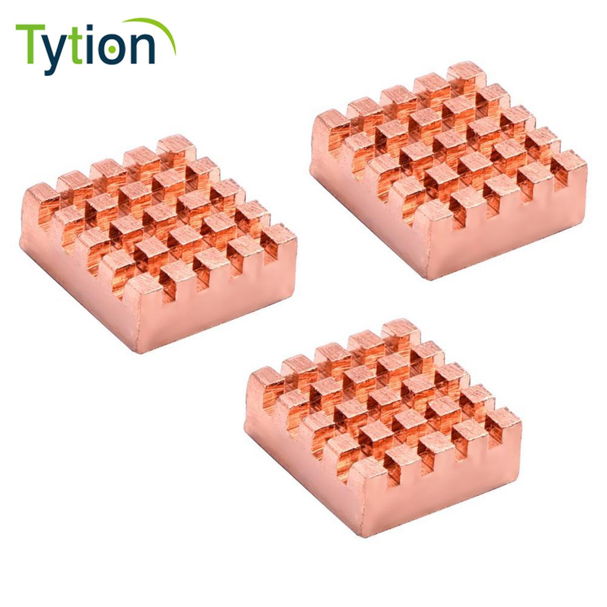 树莓派3代散热片超频显卡内存纯铜内存南北桥主板IC芯片带散热贴