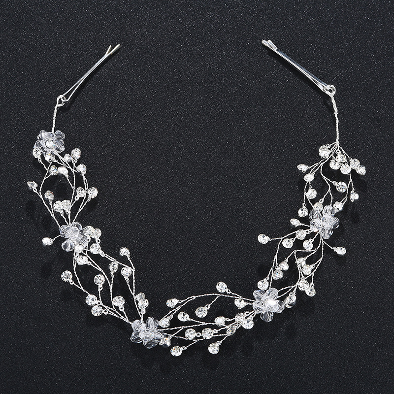 Imitated crystal&CZ Fashion Flowers Hair accessories  (Alloy) NHHS0091-Alloy