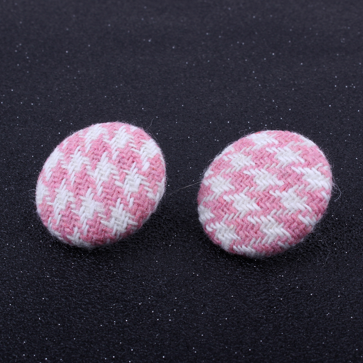Korean Korean style Korean style alloy plating earring (Pink grid)NHNMD3866-Pink grid