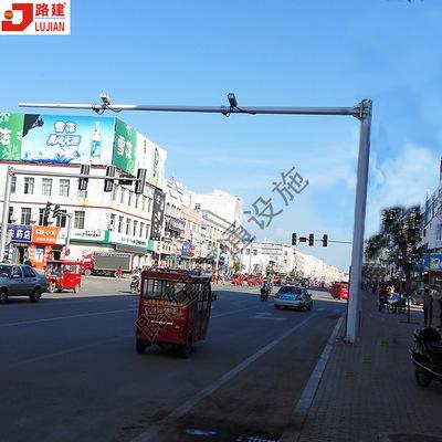 单悬臂L型监控杆 八角杆 锥形交通摄像杆 电子警察监控杆 广州厂