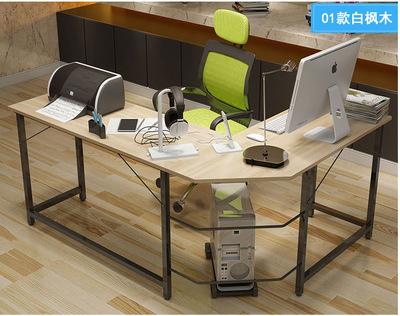 厂家批发钢木转角电脑桌简约家用台式电脑桌墙角拐角办公桌书桌子