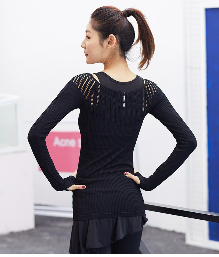 04d55d650 2019 Wanderer Long Sleeve Yoga Top For Women Sexy Hollow Out ...