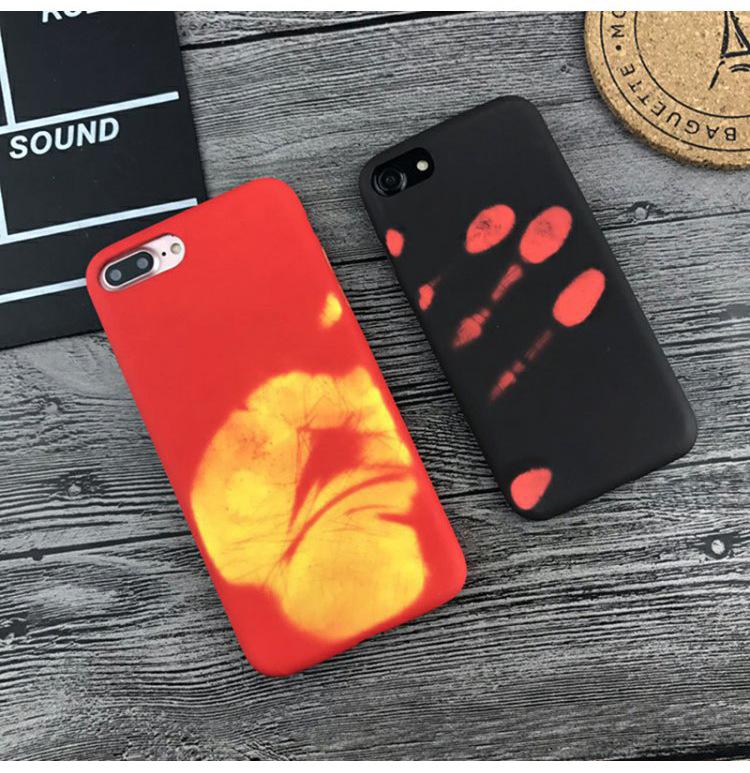 热感变色8 plus手机壳iphone11热感应高温变色Xs max保护套适用