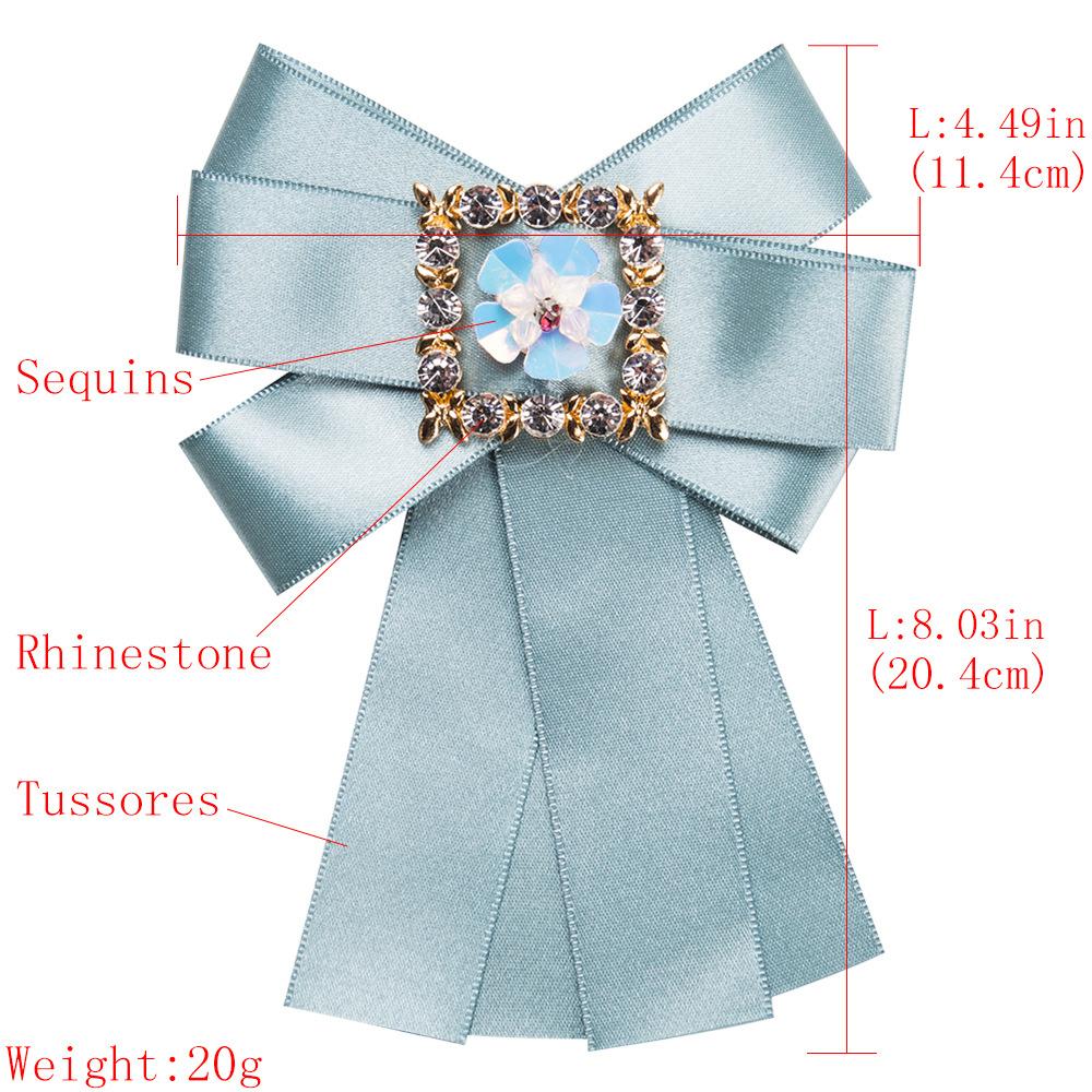 Alloy Fashion Bows brooch  (blue) NHJE1060-blue