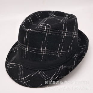 Autumn and winter new Korean version of the small top hat men's curling small top hat woolen hat young and middle-aged hats