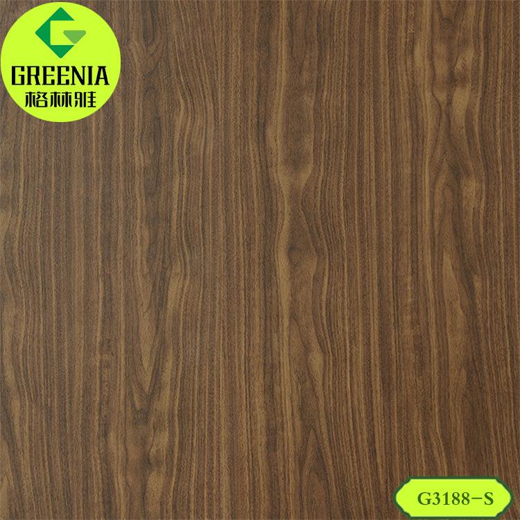 林肯胡桃G2188-S防火板 绒面木纹装饰贴面板 墙面防火板材供应商