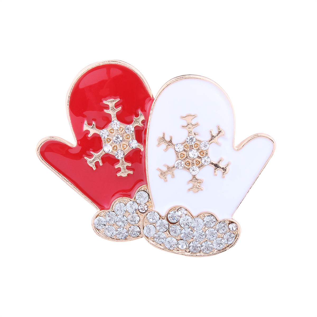 Occident and the United States alloy Diamond brooch (red)NHNMD3846-red