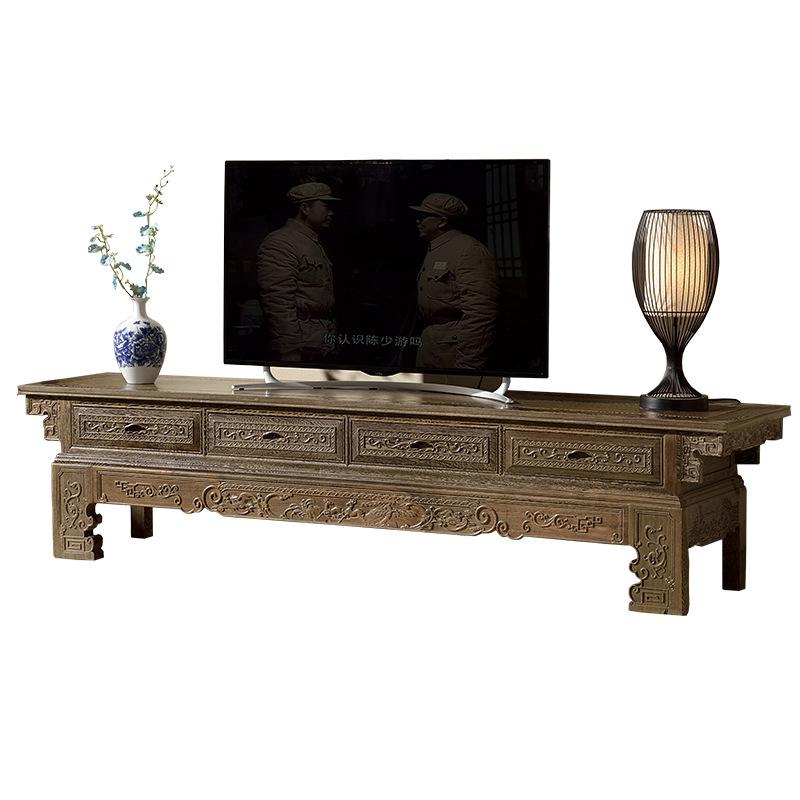 紅木電視柜雞翅木客廳柜全實木新中式地柜簡約中小戶型儲物柜古典