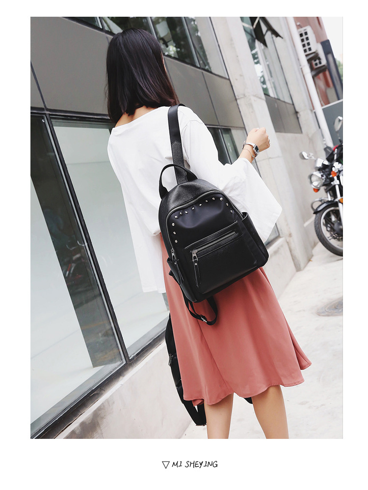 Korean style Nylon PUShoulder bag (black)NHPB0372-black