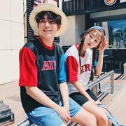 普杰欧 夏装情侣装韩国宽松短袖情侣T恤 日系潮流学生班服体恤衫