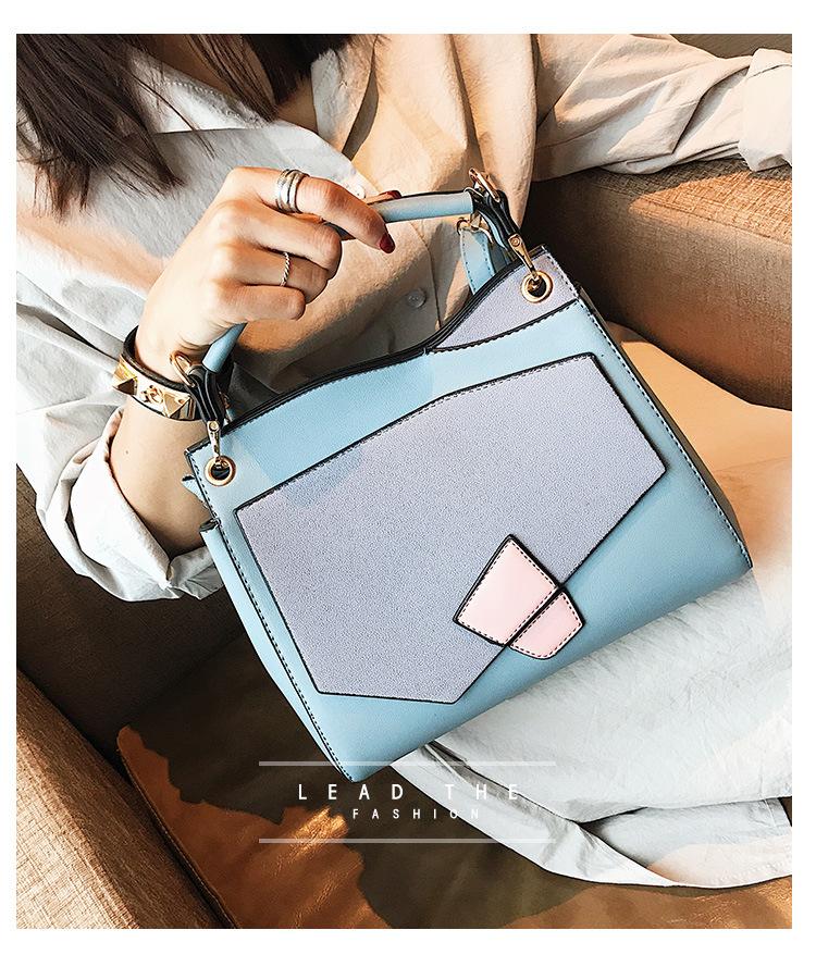 Korean version PUShoulder bag (black)NHPB0282-black