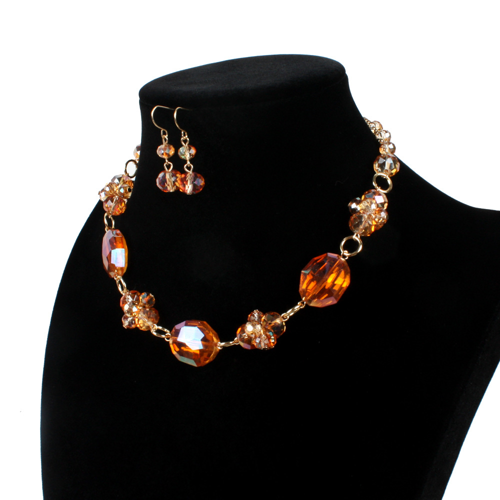 Occident and the United States pearlnecklace (Orange)NHCT0024-Orange