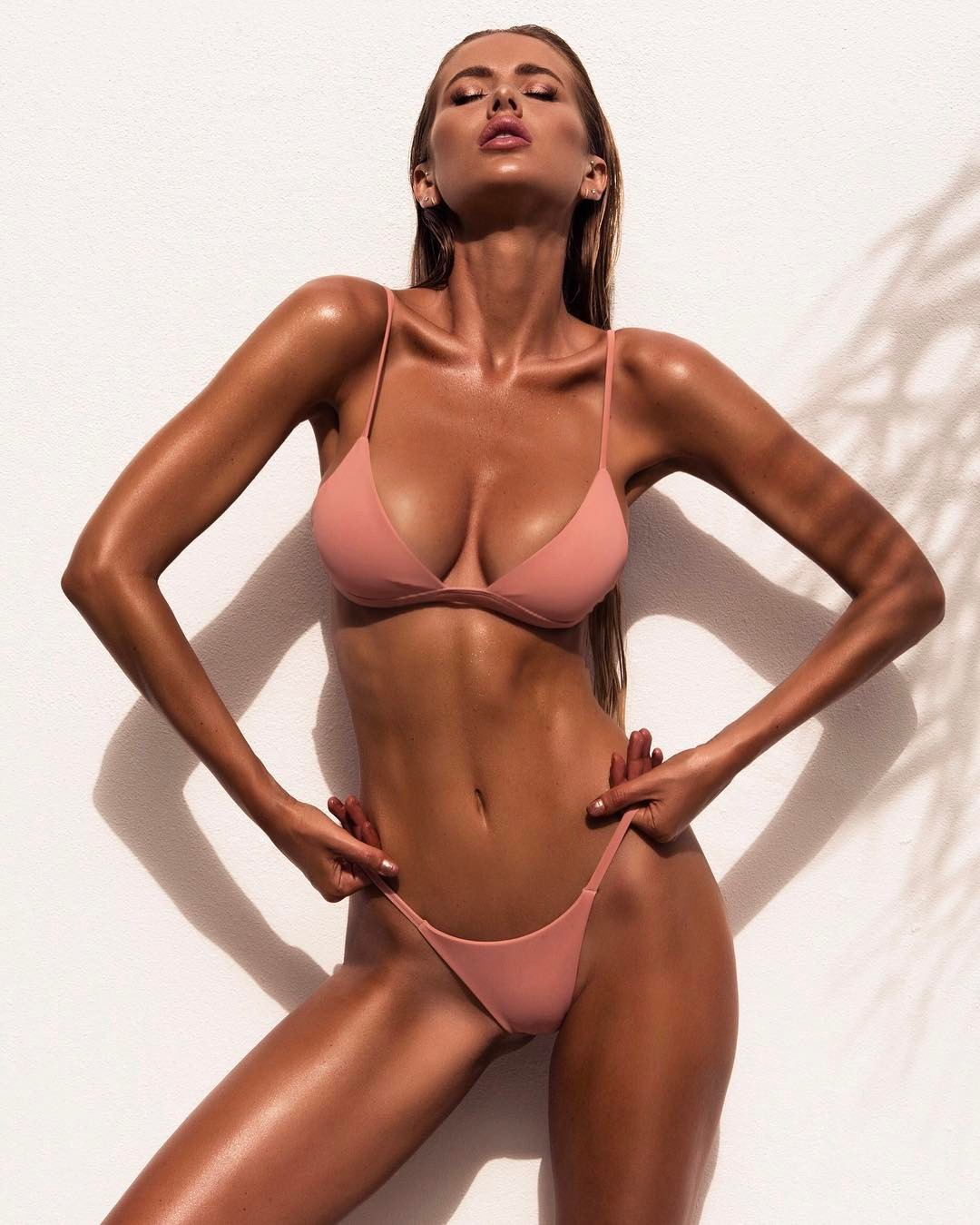 new style ladies split solid color bikini swimsuit sexy bikini wholesale NSDA150