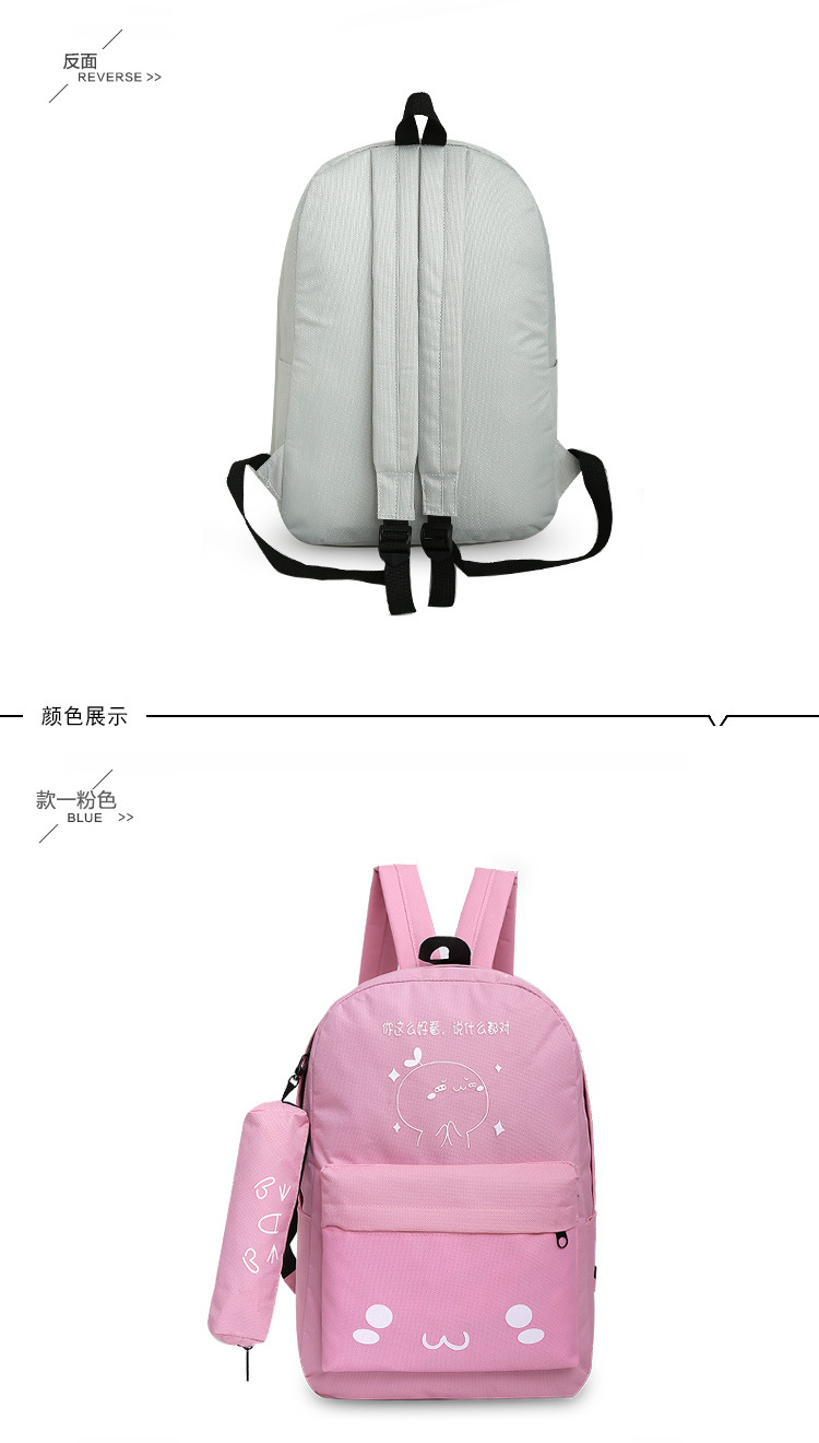Cute Canvas  backpack  (Star blue picked)  NHXC0202-Star blue picked