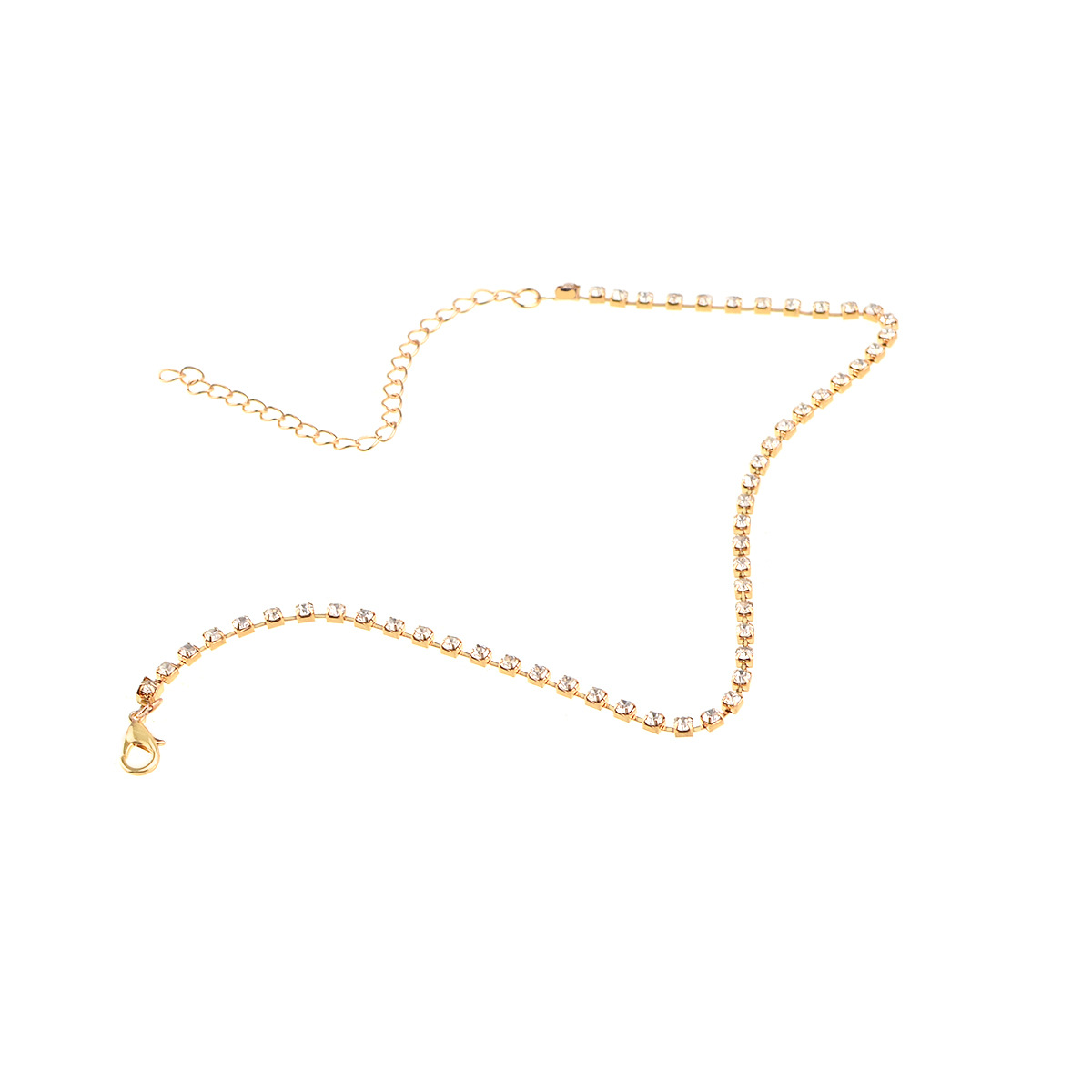 Simple street shot necklace diamond chain necklace necklace women NHXR194244