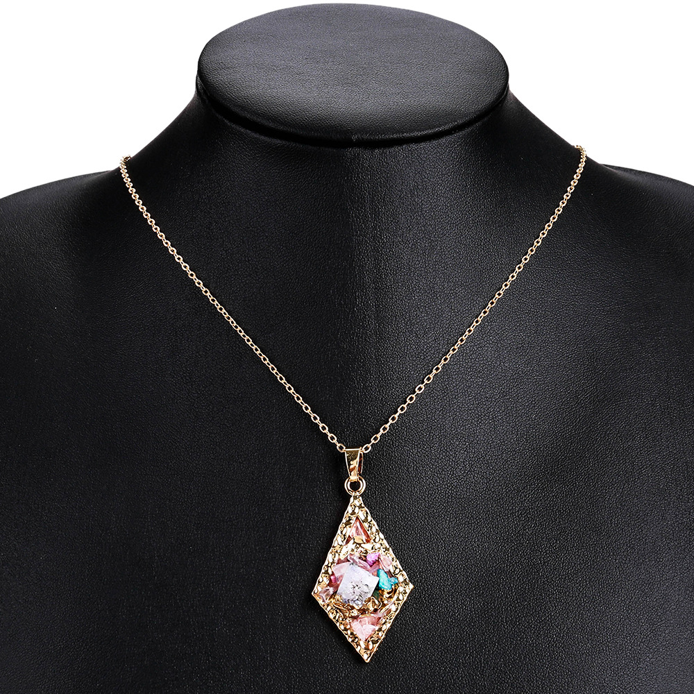 Exotic alloy plating necklace (gray)NHJE0436-gray