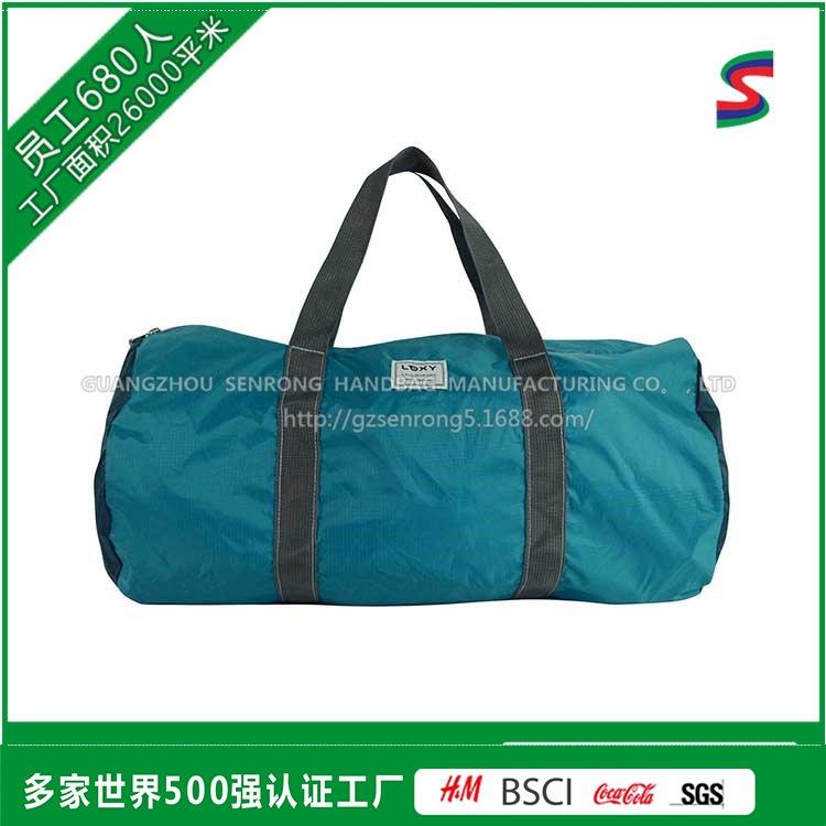 广州定制体育运动包 手提圆桶单肩 健身房300D加弹牛津布冰手提包