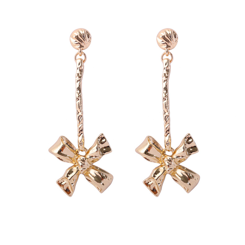 Occident and the United States alloy plating earring (Gold)NHBJ0267-Gold