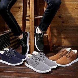 Brett's footwear, plush and thicker, outdoor leisure and heating overalls in autumn and winter, cotton shoes, British boots, men's shoes, snow boots